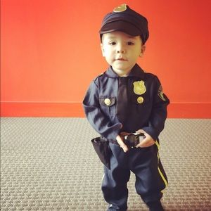 Blue Police officer cop recruit costume hat 2T 3T